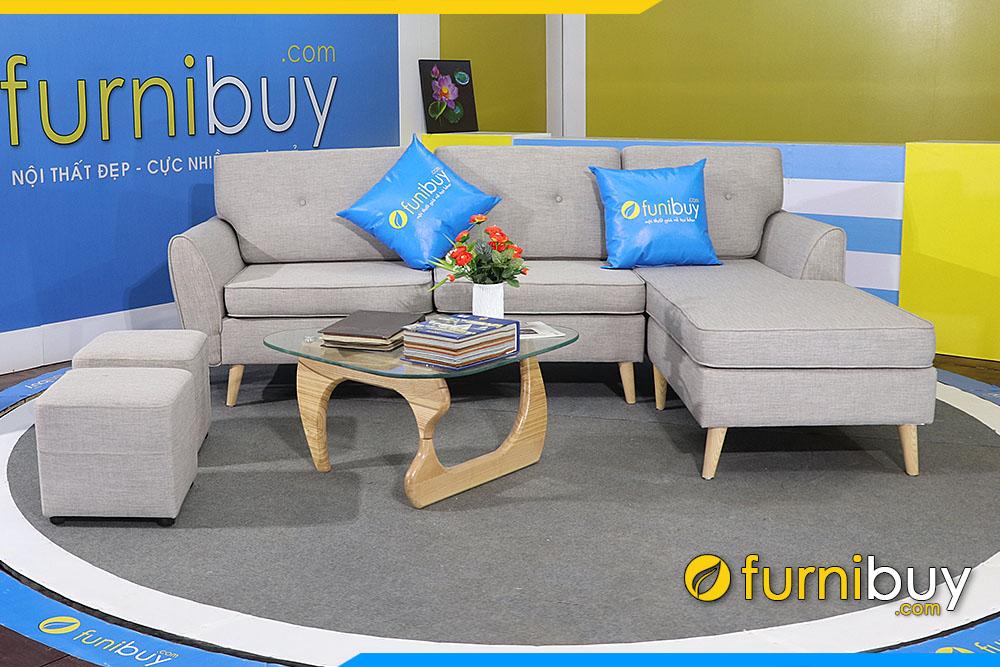 Ghe sofa phong khach dep vai ni chu L FB 20207