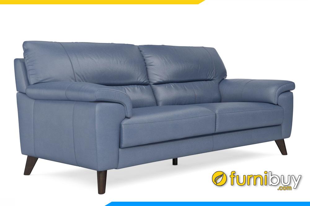 Hình ảnh ghế sofa văng da hiện đại cho phòng khách chung cư FB20001