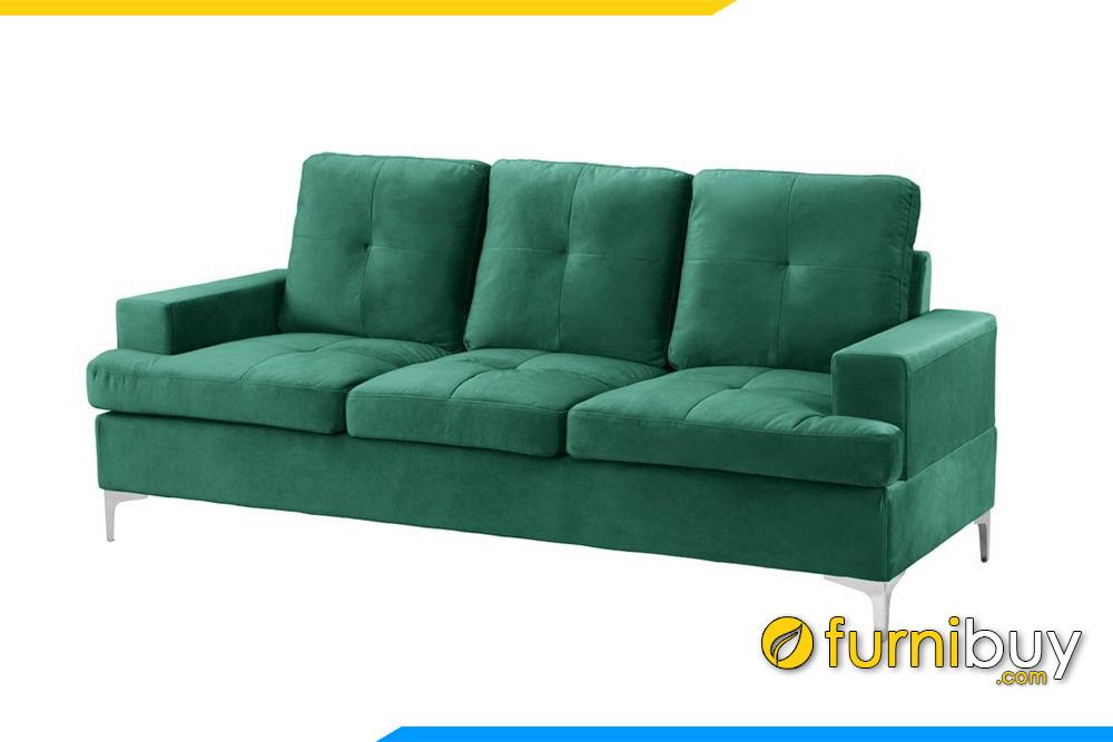Sofa văng nỉ màu xanh trẻ trung