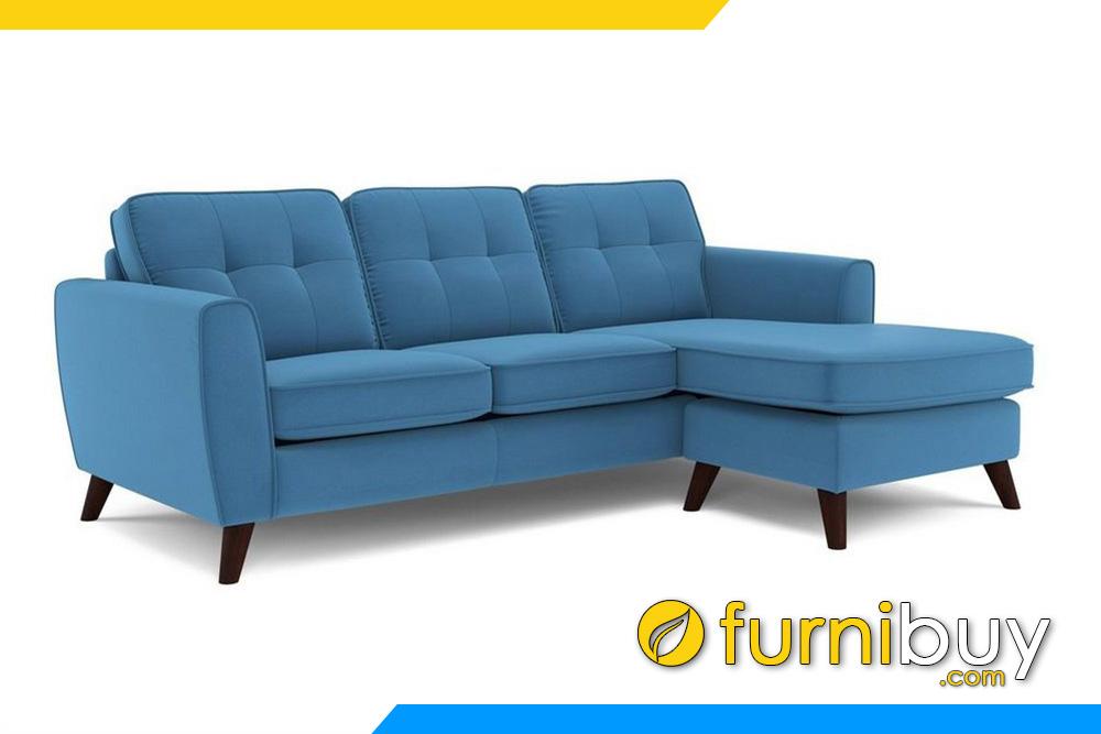 Mẫu ghế sofa nỉ màu xanh