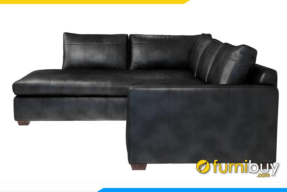 Hình ảnh mẫu sofa da phòng khách FB20049