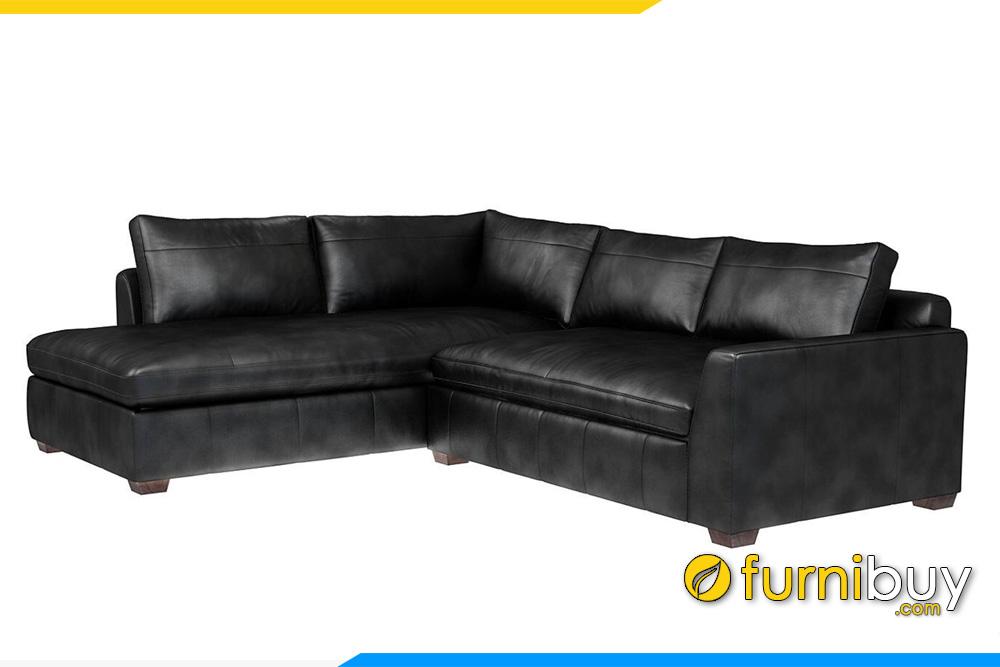 Mẫu sofa da phòng khách sang trọng FB20049