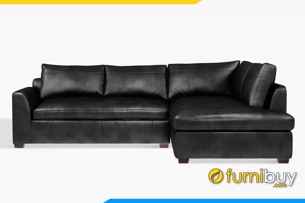Ghế sofa da góc phòng khách FB20049