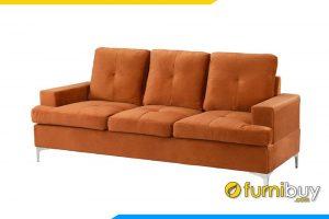 Ghế sofa nỉ màu vàng cam