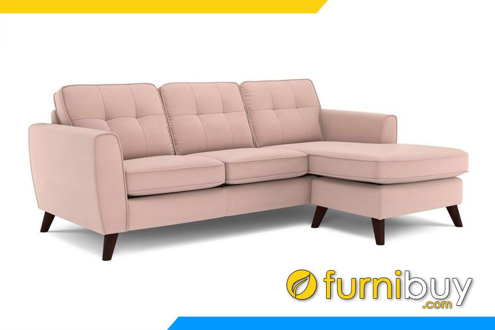 Ghế sofa nỉ đẹp với màu hồng