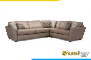 Mẫu ghế sofa phòng khách chất liệu da