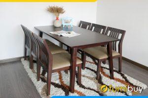 Bộ bàn ăn 6 ghế đẹp BA2001