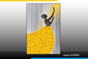 Tranh khổ dọc cô gái hoa Amia 919095