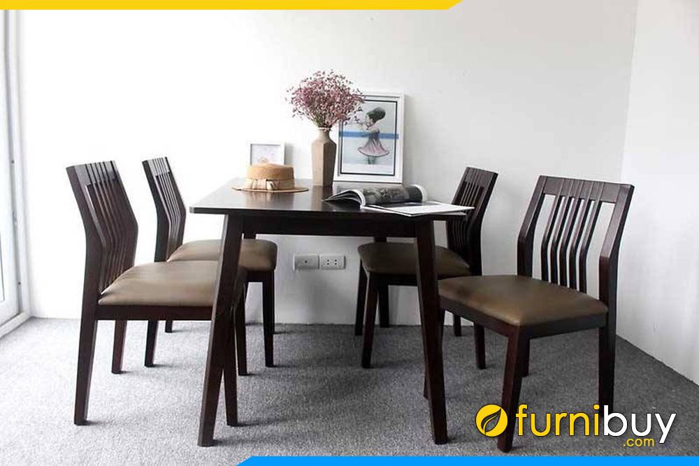 Mẫu bàn ghế ăn nhỏ 4 ghế