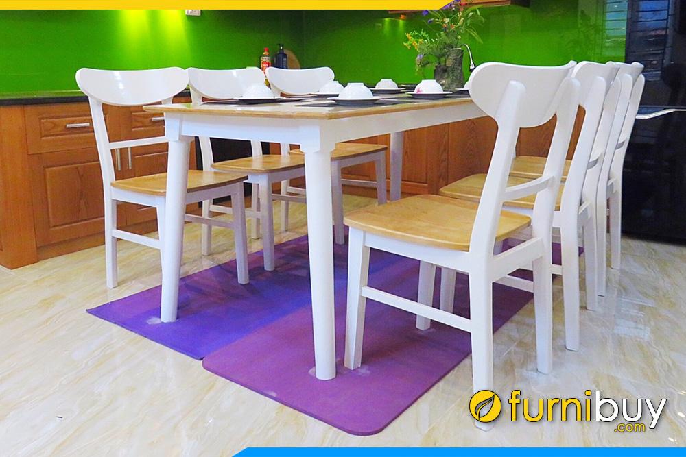 Bộ bàn ghế ăn gỗ sồi