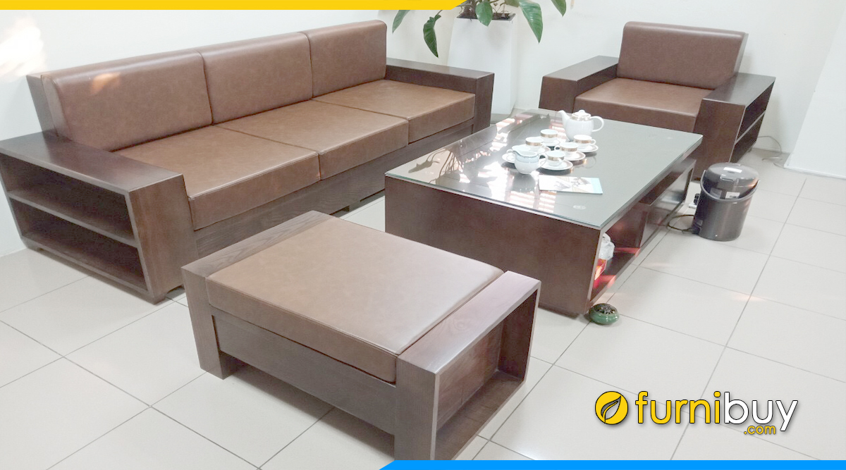 Bộ bàn ghế gỗ đẹp có nệm mút