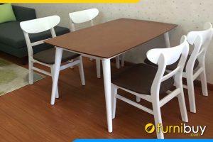 Bộ bàn ăn 4 ghế đẹp BA025