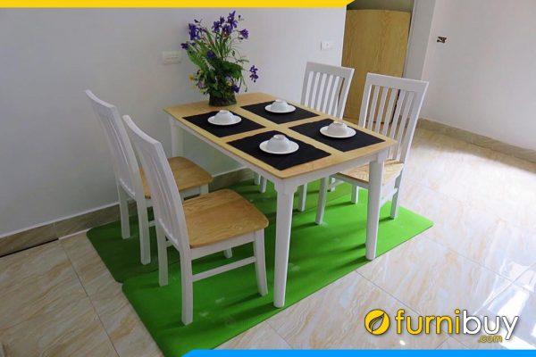 Bộ bàn ăn nhỏ xinh 4 ghế BA029