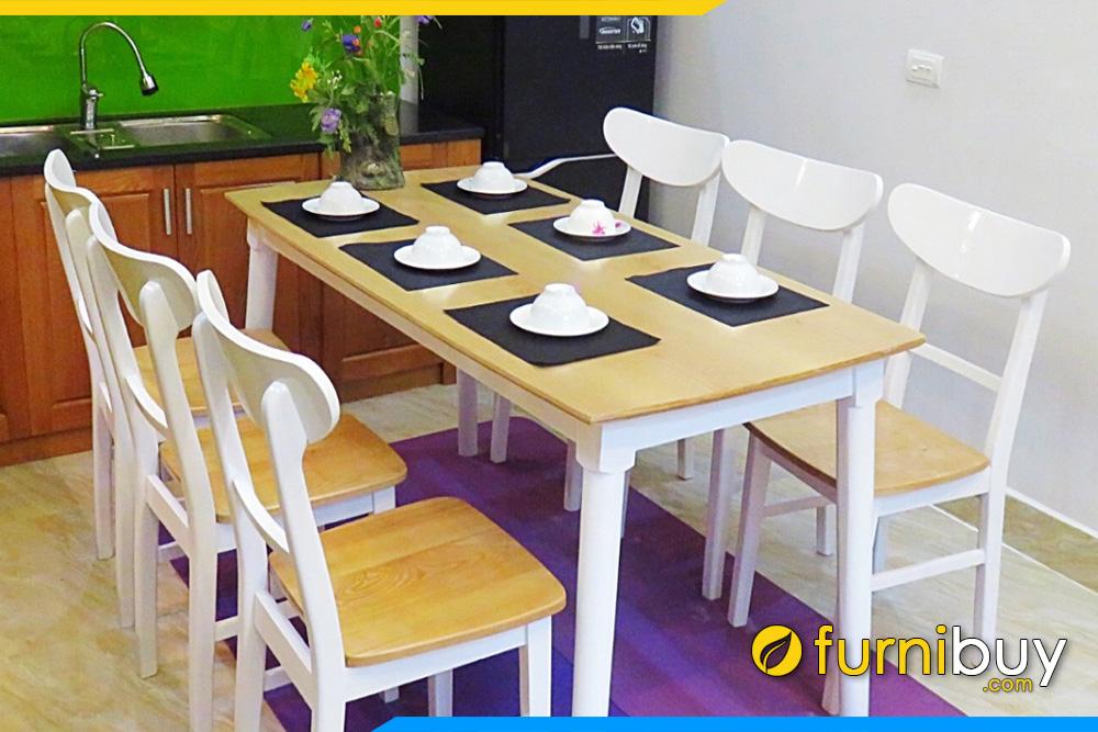 Bộ bàn ghế ăn gỗ sồi đẹp