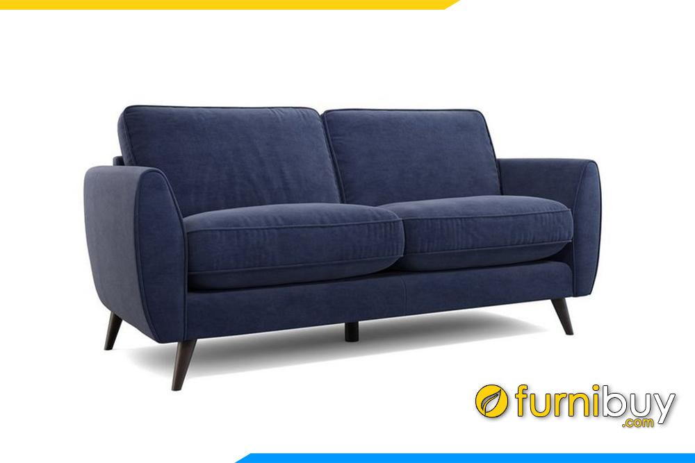 Ghế sofa được thiết kế gam màu xanh than, đem đến cảm giác sạch sẽ yên tâm khi nhà có con nhỏ