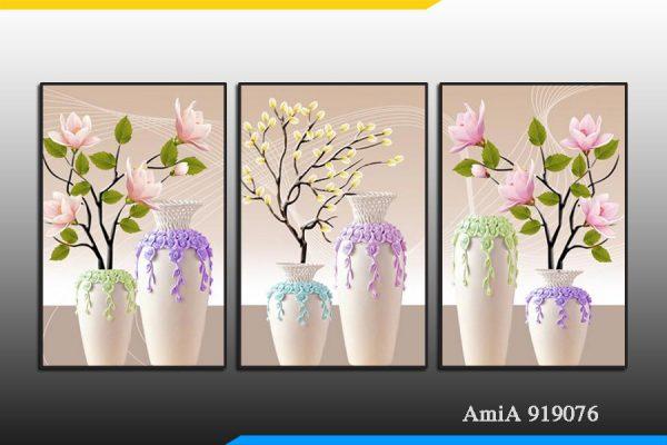 Tranh treo tường bình hoa AmiA 919076.