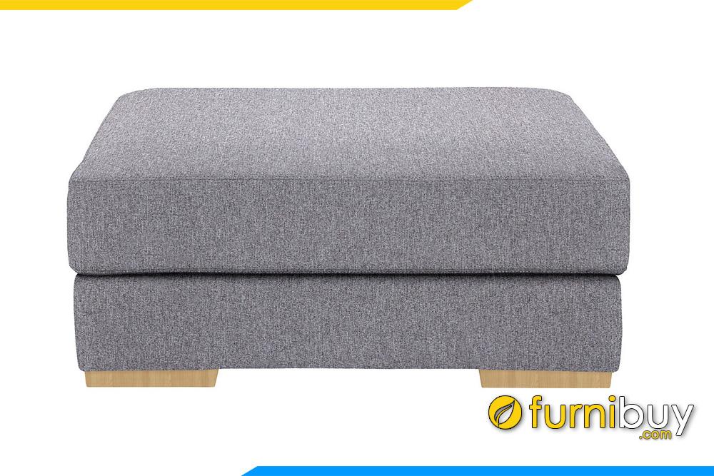 Mẫu đôn sofa bọc nỉ màu xám FB20055