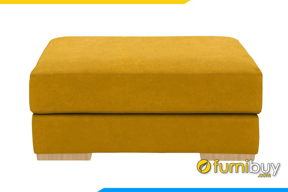 Ghế sofa đôn nỉ màu vàng FB20055