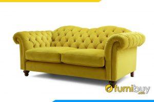 Ghế sofa nỉ với kiểu dáng văng dài hiện đại