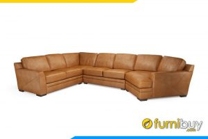 Ghế sofa da đẹp cho phòng khách rộng