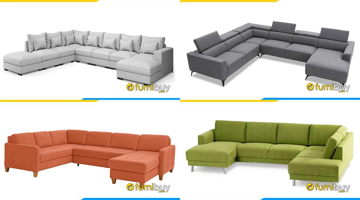 Các mẫu ghế sofa chữ U đẹp