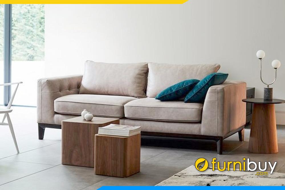 Ghế sofa FB20018 được bọc bới chất liệu da cao cấp, kết hợp với khung xương gỗ rất chắc chắn