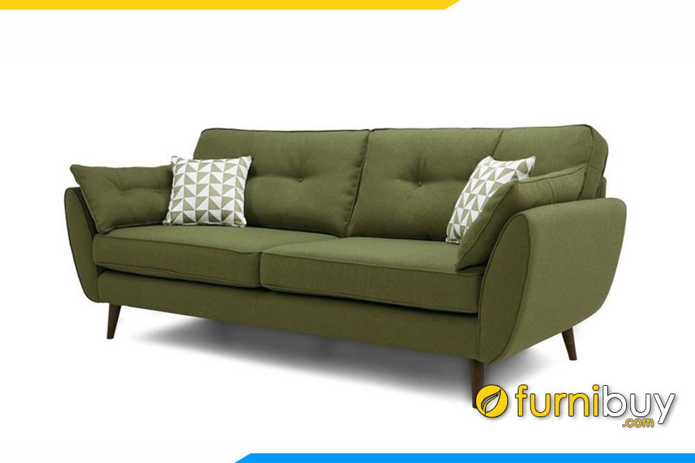 Hình ảnh ghế sofa với gam màu xanh rêu độc đáo, nổi bật