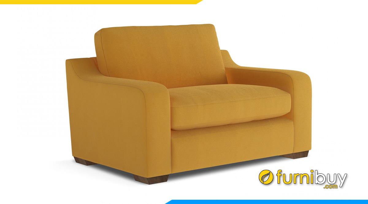 ghế sofa nỉ màu vàng 1 chỗ ngồi