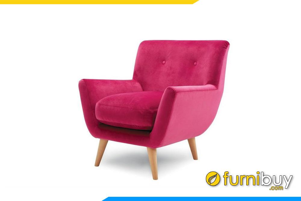 Mẫu ghế sofa đơn đẹp màu đỏ