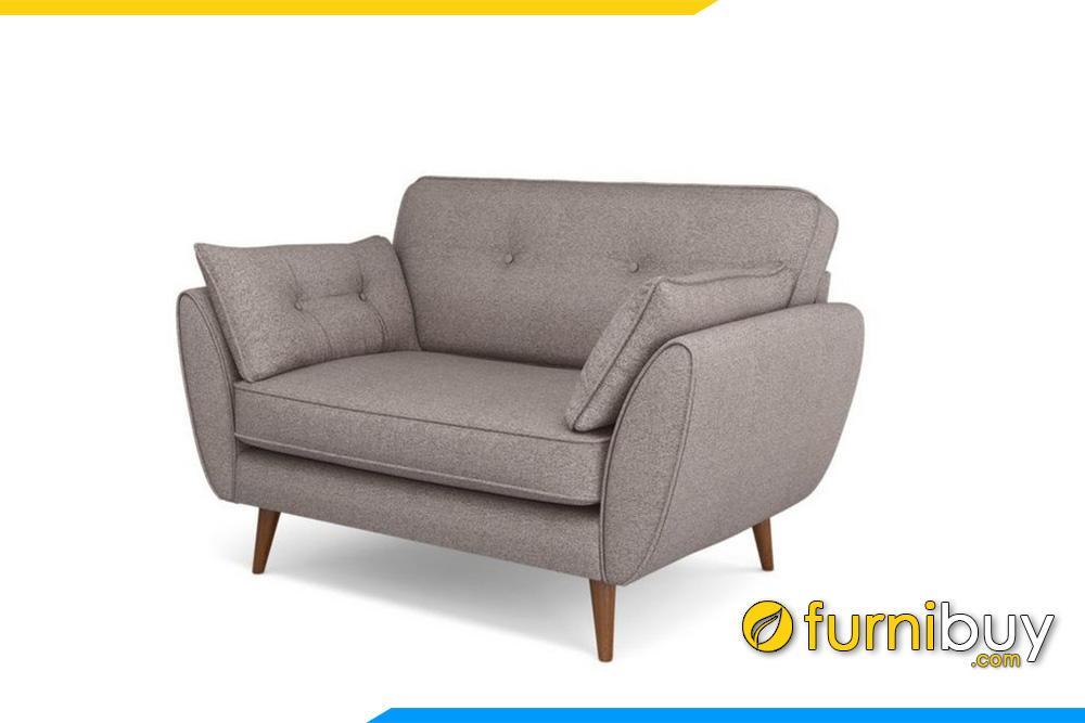 Ghế sofa đơn FB20025 với gàm màu ghi lông chuột được ưa chuộng hiện nay