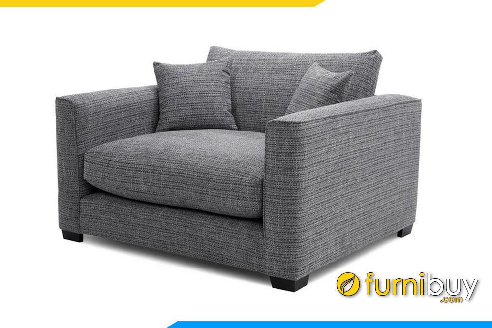 Hình ảnh mẫu ghế sofa đơn nỉ đẹp hiện đại được ưa chuộng