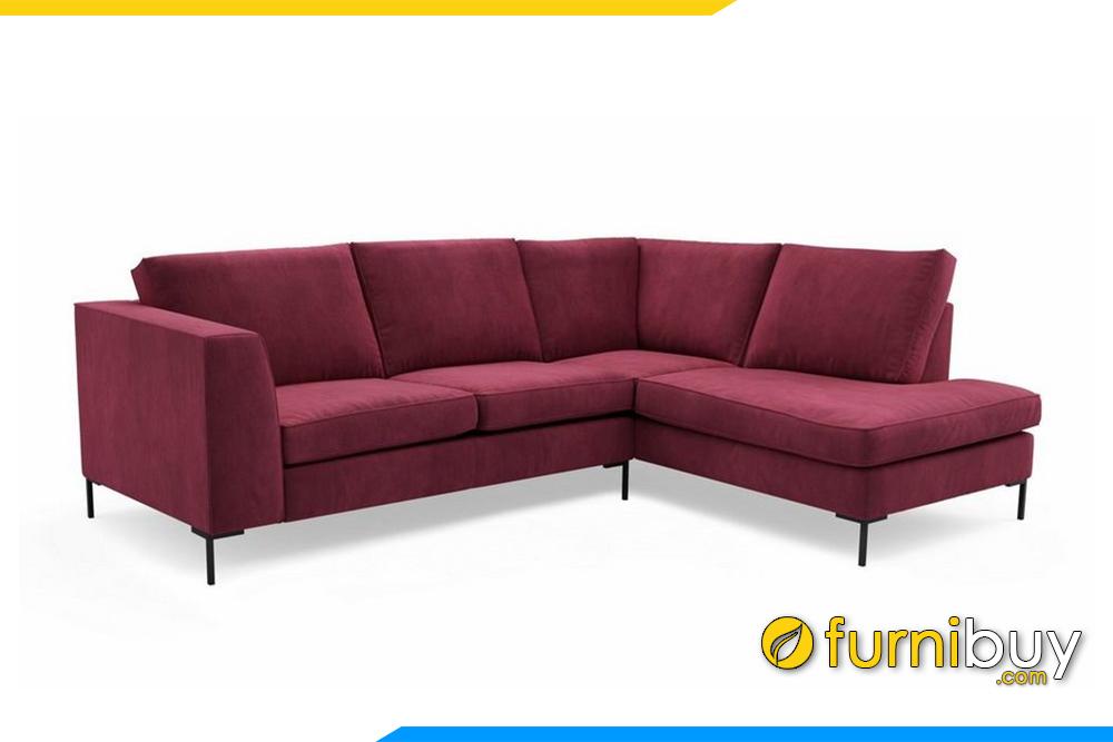 Bộ ghế sofa góc F20010 với gam màu hồng đậm theo sở thích của khách hàng