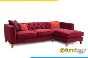 Ghế sofa với kiểu dáng góc L kết hợp với chất liệu nỉ hiện đại