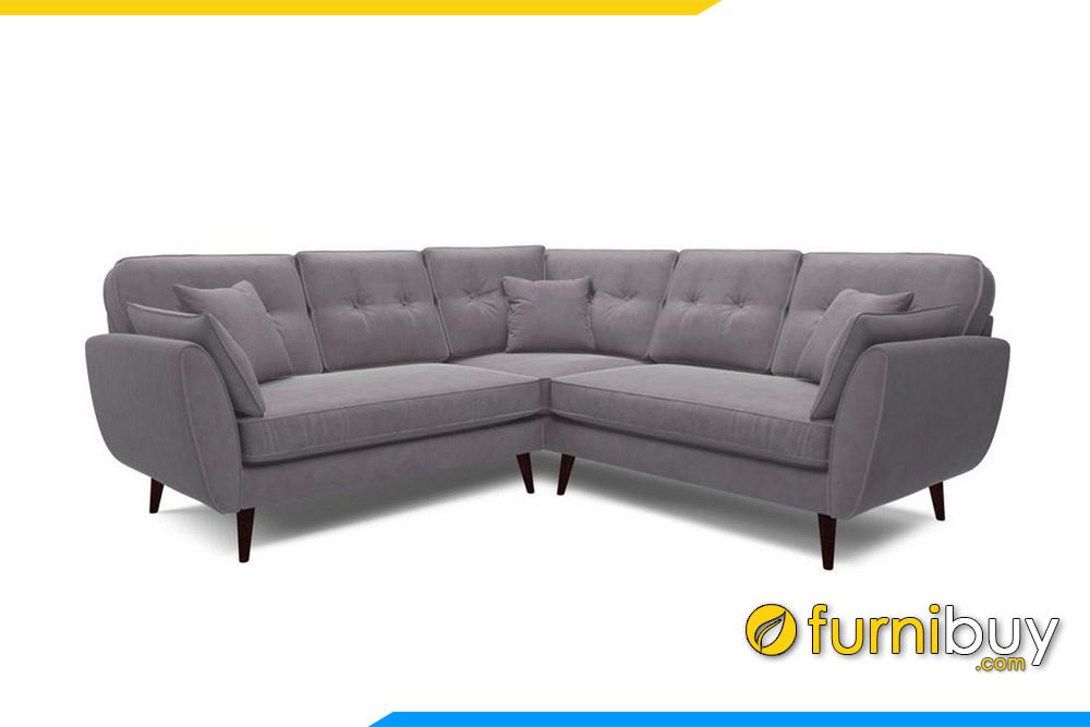 Chất liệu nỉ cao cấp kết hợp với khung xương, nệm mút để cấu tạo nên sản phẩm ghế sofa với chất lượng hoàn hảo cho người tiêu dùng