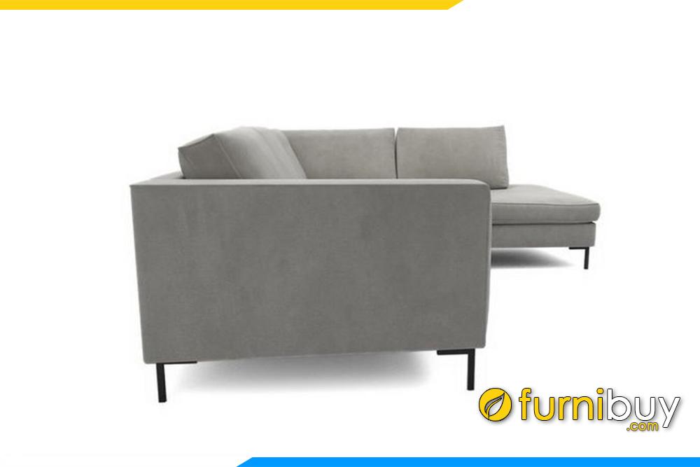 Hình ảnh mẫu sofa phòng khách được chụp góc ngang