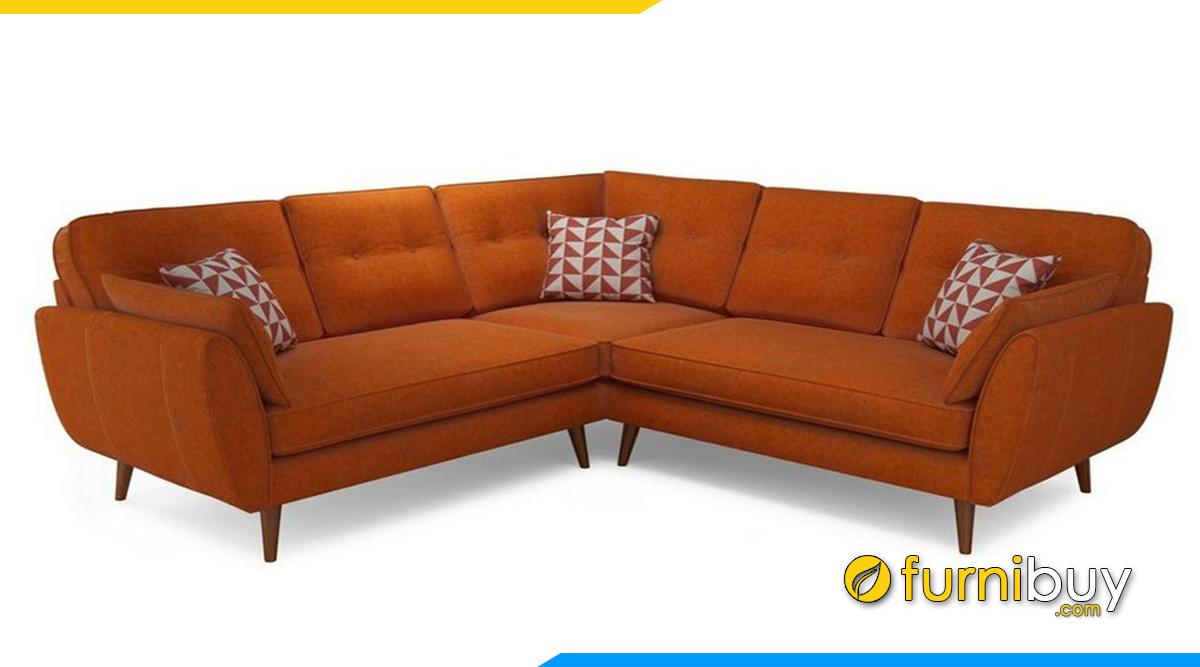 sofa góc chữ V chất liệu nỉ vải