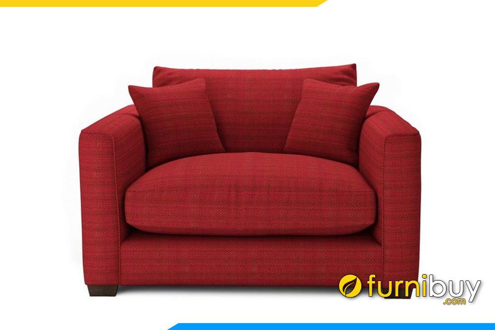 Ghế sofa với gam màu đỏ rất được chị em phụ nữ yêu thích kê trong phòng ngủ của mình