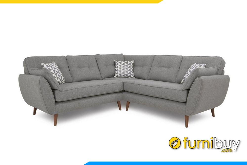 Ghế sofa nỉ FB20019 với kích thước phổ thông 2m3x2m3