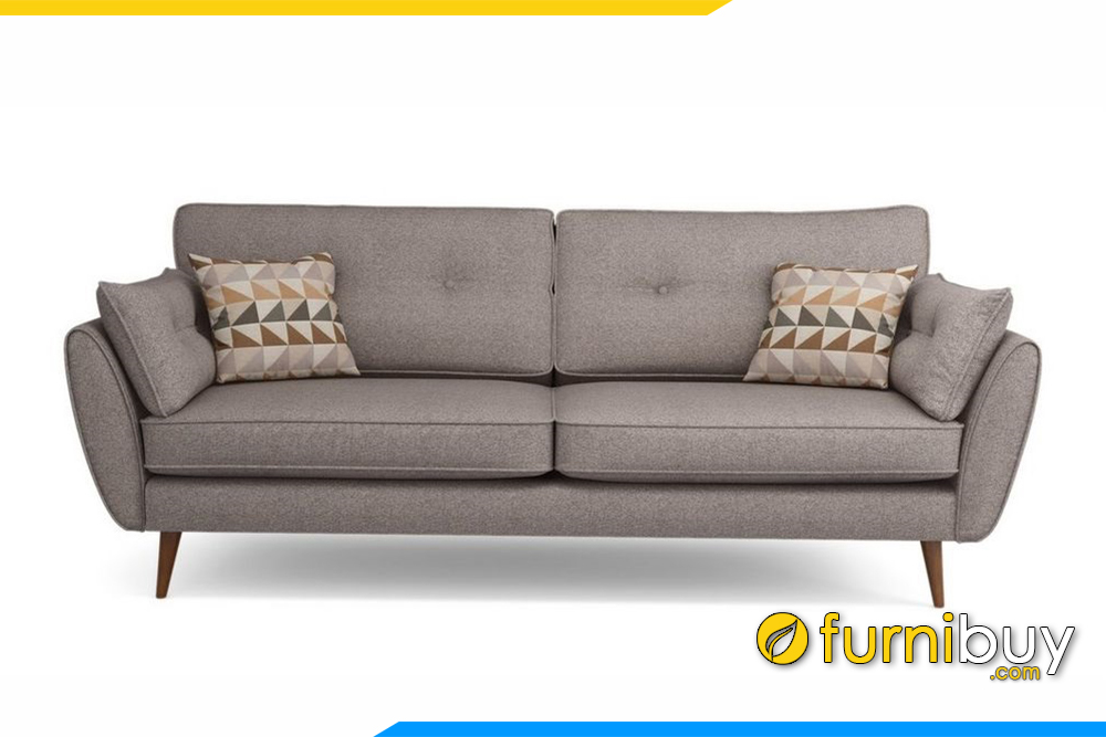 Ghế sofa với gam màu ghi rất được ưa chuộng hiện nay