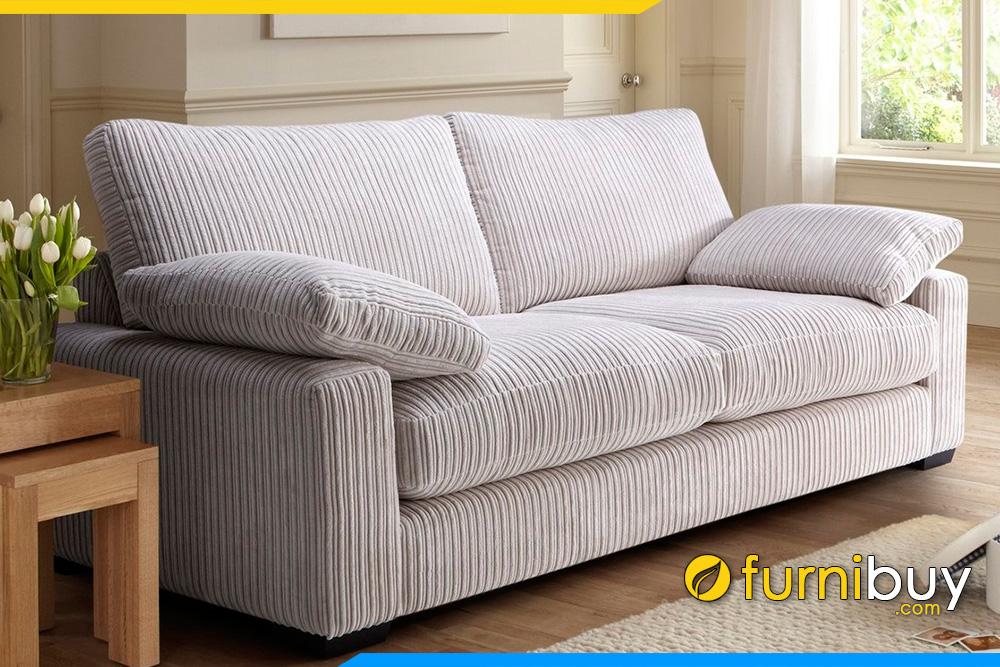 Ghế sofa nỉ FB20022 được cải tiến thành kiểu dáng văng nhỏ cho phòng khách