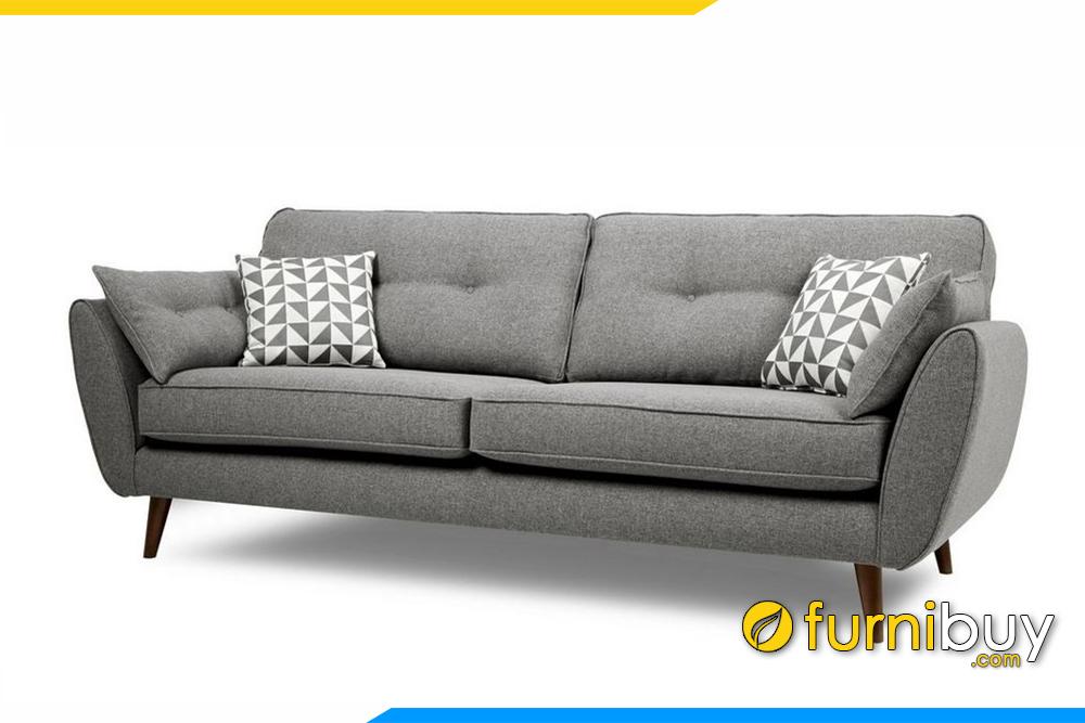 Ghế sofa nỉ phòng khách với màu ghi xám nhã nhặn