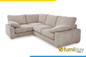 Ghế sofa phòng khách với kiểu dáng góc chữ L được ưa chuộng cho mọi phòng khách