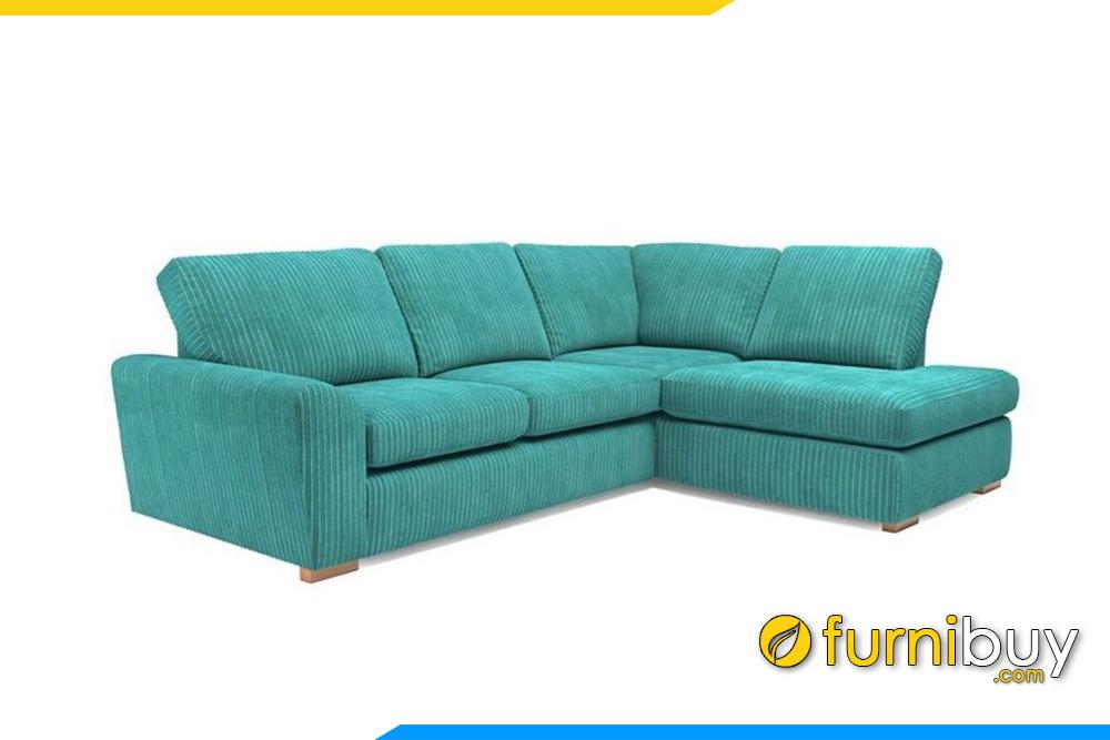Mẫu ghế sofa góc hiện đại với gam màu xanh trẻ trung