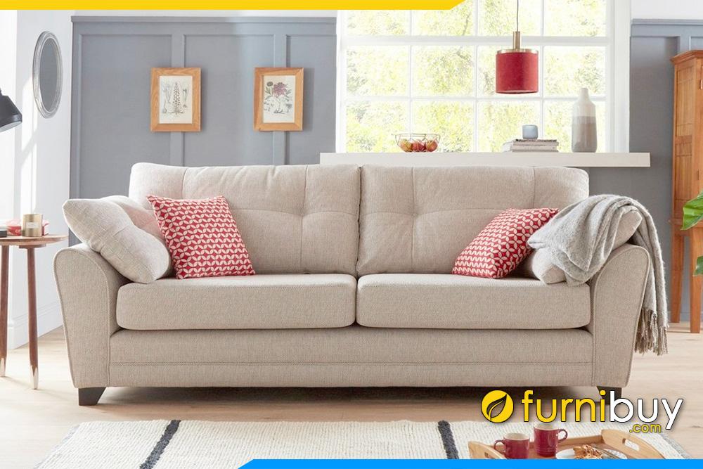 Ghế sofa nỉ FB20023 được cải tiến với kiểu dáng văng dài cho phòng khách nhỏ