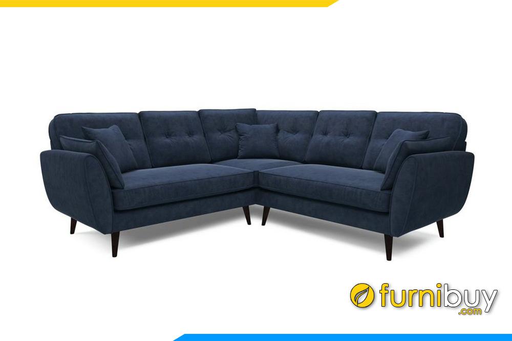 Ghế sofa với gam màu xanh than rất sạch sẽ và nổi bật
