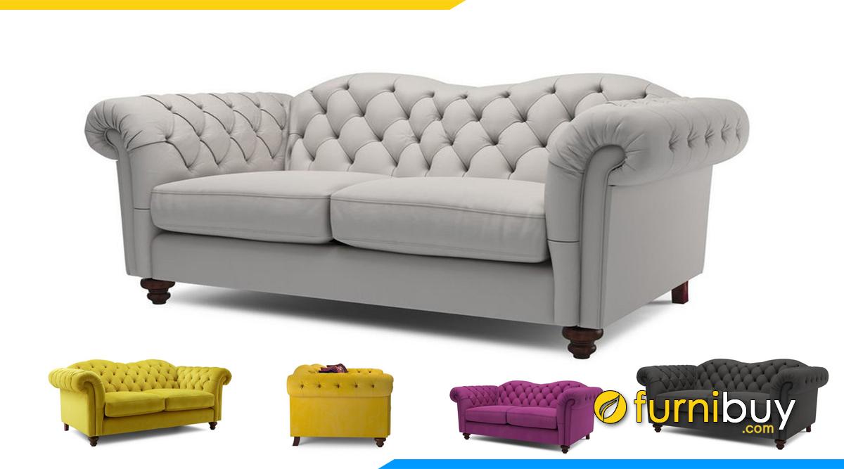 Mẫu sofa tân cổ điển 2 chỗ ngồi
