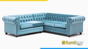 Sofa tân cổ điển đẹp kiểu góc