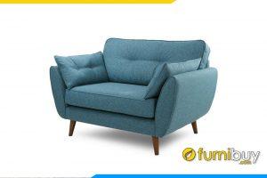 Ghế đơn FB20025 được làm chất liệu nỉ màu xanh bắt mắt