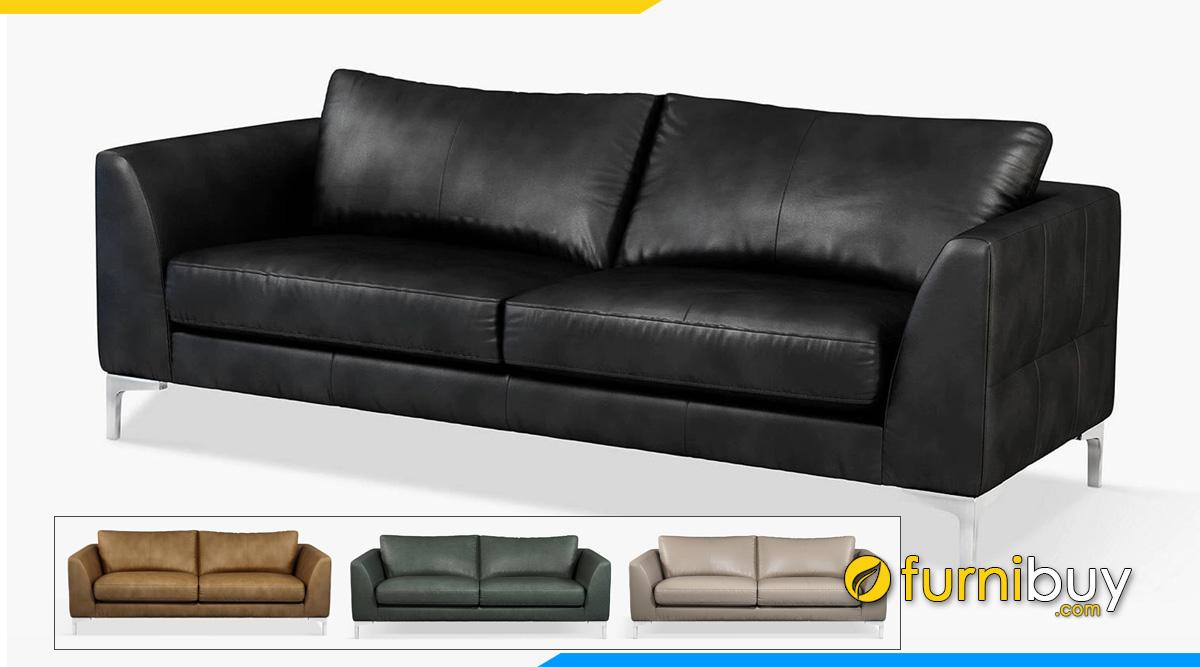 Mẫu ghế sopha da thiết kế đơn giản