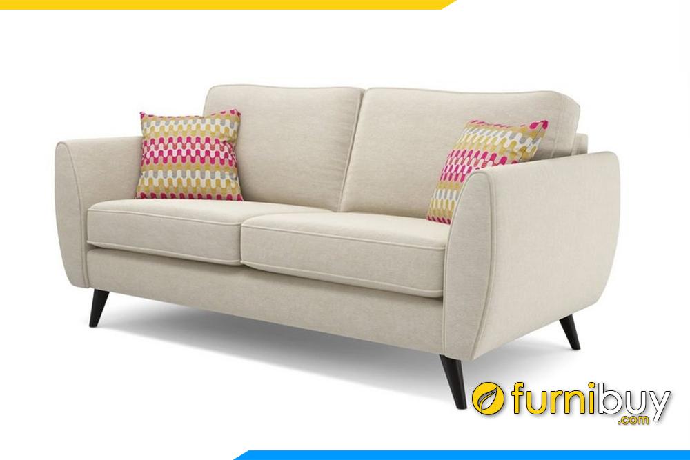 Bộ ghế sofa với gam màu kem rất hiện đại sang trọng. Đây là gam màu rất được ưa chuộng bởi dễ dàng phối màu với các món đồ nội thất trong gia đình bạn